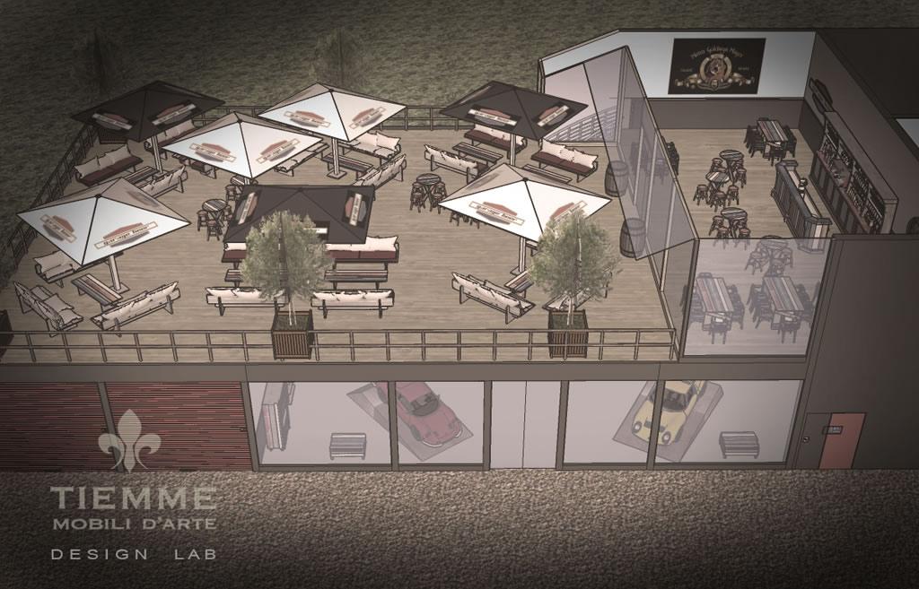 Garage store & Roof Cafè