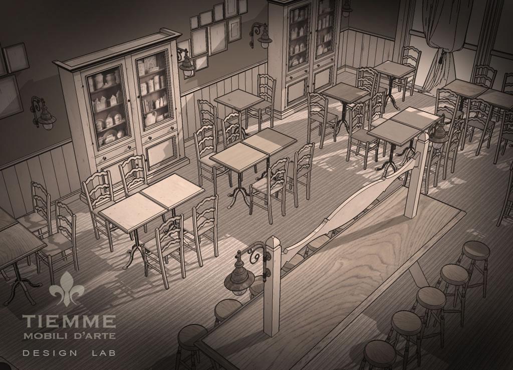 Pequeña Tienda sala ristorante