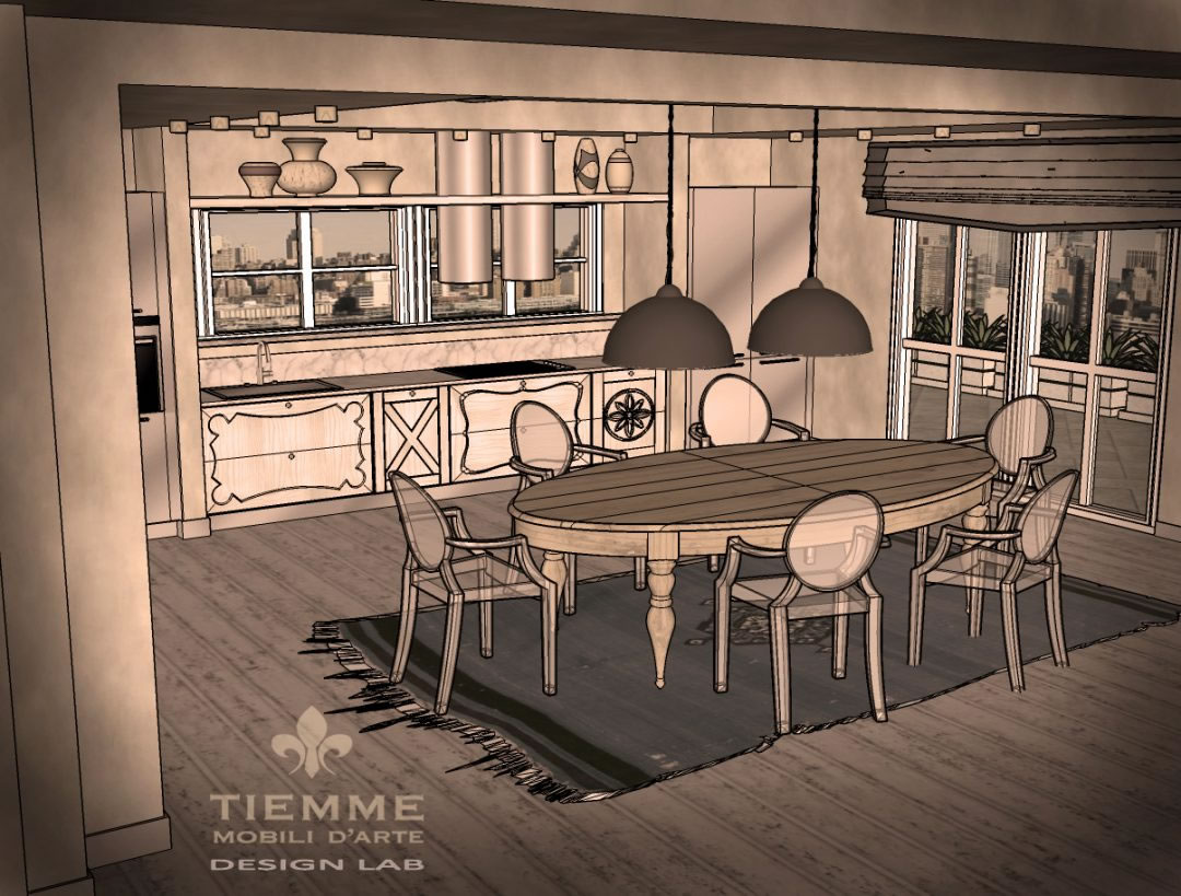 Attico Manhattan con cucina palio